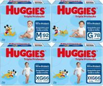 Fralda Infantil Descartável Huggies Baby Tripla Proteção Hiper Pacotão -