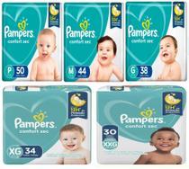 Fralda Infantil Descartável Pampers Confort Sec *12hs Mega Pacotão -