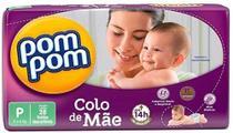 Fralda Infantil Descartável  Pom Pom Jumbo Colo De Mae P 28unid. -