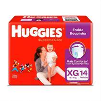 Fralda Infantil Huggies Com 14 Roupinha Supreme Care Mega Xg -