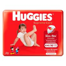 Fralda Infantil Huggies Com 16 Supreme Jumbo Xxg -