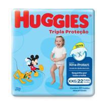 Fralda Infantil Huggies Com 22 Tripla Proteção Jumbo Xxg Pc -