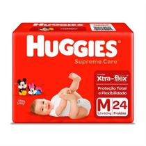 Fralda infantil huggies com 24 supreme jumbo m -