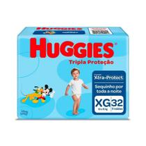 Fralda Infantil Huggies Com 32 Tripla Mega Xg -
