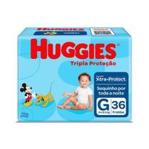 Fralda Infantil Huggies Com 36 Tripla Proteção Gd -