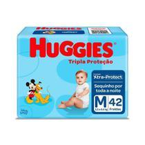 Fralda Infantil Huggies Com 42 Tripla Proteção Md -