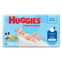 Fralda infantil huggies com 46 tripla proteção pq -