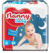 Fralda infantil nanny baby g c/80 -