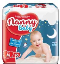 Fralda infantil nanny baby m c/90 -