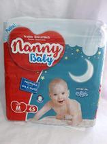 FRALDA INFANTIL NANNY BABY PRATICA M 45 un -