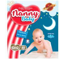 Fralda infantil nanny baby premium  sxg c/30 -