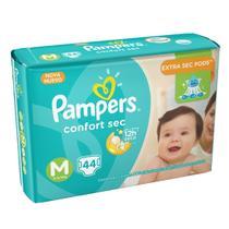 Fralda infantil pampers confort mega m -