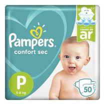 Fralda Infantil Pampers Confort Sec Mega Com 50 Tamanho P -
