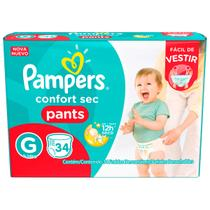 Fralda infantil pampers pants c/34 confort sec gd