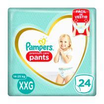 Fralda Infantil Pampers Premium Care Pants Tamanho XXG com 24 Unidades -