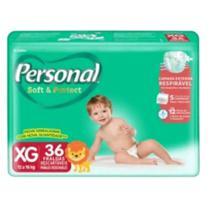 Fralda infantil personal soft e protect mega -