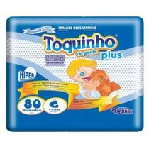Fralda Infantil Toquinho Plus - G c/ 80 unidades -