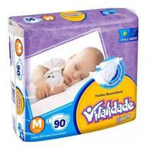 FRALDA INFANTIL VITALIDADE BABY M/ 90un - KAIRÓS