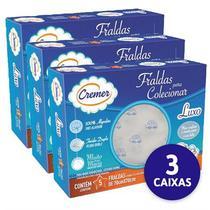 Fralda Luxo Estampada Masculina Caixa com 05 unidades Cremer (3 Caixas) -