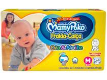 Fralda MamyPoko Dia&Noite Jumbo Calça Tam. M - 7 a 10kg 34 Unidades -