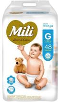 Fralda Mili Love & Care Mega G c/48 unidades -