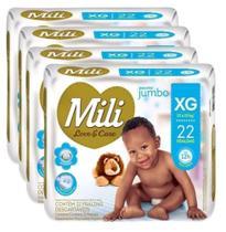 Fralda Mili Love&Care XG 22fraldas - KIT 4 UNIDADES -