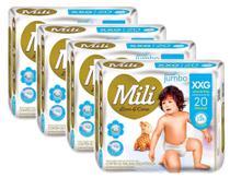 Fralda Mili Love&Care XXG 20fraldas - KIT 4 UNIDADES -