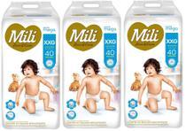 Fralda Mili Love&Care XXG 40fraldas - KIT 3 UNIDADES -