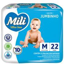 Fralda Mili M com 22 fraldas Jumbinho -