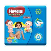 Fralda Monica Huggies Tripla Proteção XXG 22un -