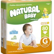 FRALDA NATURAL BABY G / 80 un -