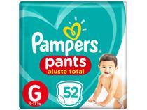 Fralda Pampers Ajuste Total Pants Calça - Tam. G 9 a 13kg 52 Unidades