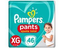 Fralda Pampers Ajuste Total Pants Calça  - Tam. XG 11 a 15kg 46 Unidades