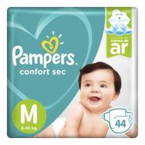 Fralda Pampers Confort Sec Mega - M 44 Tiras -