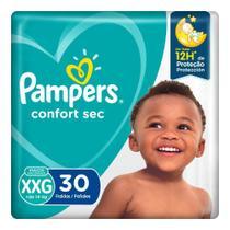 Fralda Pampers Confort Sec Mega - XXG 30 unidades -