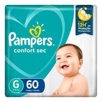 Fralda Pampers Confort Sec Pack Tamanho G 60 unidades -