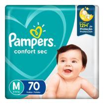 Fralda Pampers Confort Sec Pack  Tamanho M 70 unidades -