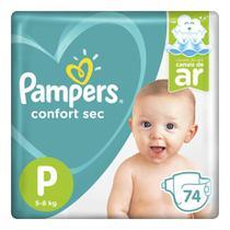 Fralda Pampers Confort Sec Pack Tamanho P 74 unidades -