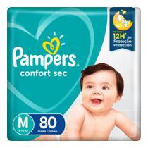 Fralda Pampers Confort Sec Pacote Giga Tamanho M -