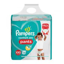 Fralda Pampers Confort Sec Pants Bag Xxg 60 Unidades