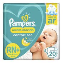 Fralda Pampers Confort Sec RN Plus 20 Unidades - até 6kg -