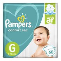 Fralda pampers confort sec super tamanho g 60 unidades -
