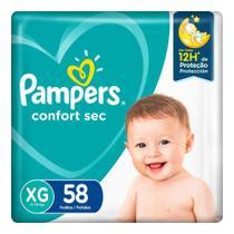 Fralda Pampers Confort Sec Super Tamanho XG 58 Unidades -