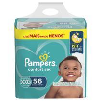 Fralda Pampers Confort Sec Super Tamanho XXG 56 Tiras -