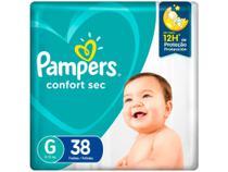 Fralda Pampers Confort Sec Tam. G  - 9 a 13kg 38 Unidades -