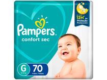 Fralda Pampers Confort Sec Tam. G 9 a 13kg - 70 Unidades