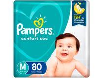 Fralda Pampers Confort Sec Tam. M 6 a 10kg - 80 Unidades
