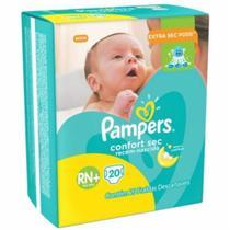 Fralda Pampers Confort Sec Tam. RN+ - 0 a 6kg 20 Unidades -