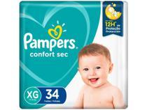 Fralda Pampers Confort Sec Tam. XG  - 11 a 15kg 34 Unidades -