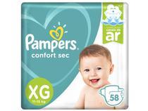 Fralda Pampers Confort Sec Tam. XG - 11 a 15kg 58 Unidades